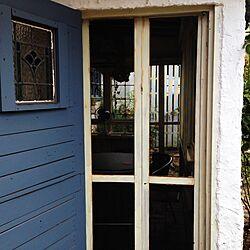 玄関/入り口/ガーデンハウスの網戸、折れ戸のインテリア実例 - 2016-09-06 22:55:20