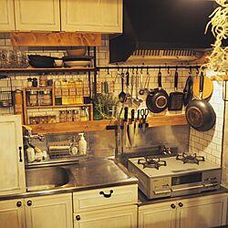 キッチン/キッチン/カフェ風/賃貸/カフェ風インテリア...などのインテリア実例 - 2015-11-15 12:26:56