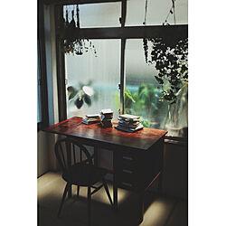机/無垢の家具/和室/ナチュラル/ハンギング...などのインテリア実例 - 2020-05-17 18:50:31