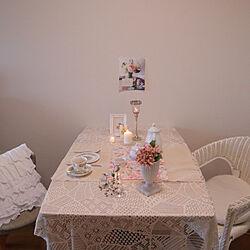キッチン/テーブルコーデ/ティーセット/好きなものに囲まれて暮らす/ティータイム...などのインテリア実例 - 2020-07-04 13:52:40