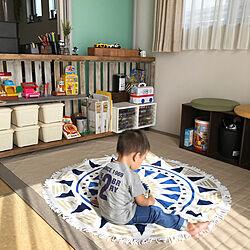 棚/和室/おもちゃ部屋/おもちゃ収納/DIY...などのインテリア実例 - 2018-07-16 15:26:37