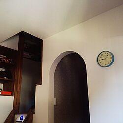 ベッド周り/アーチ垂れ壁/北欧/時計/隠れ家風...などのインテリア実例 - 2015-02-28 09:11:07