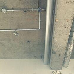 壁/天井/天井梁/配管むき出し/壁掛け時計/リノベーション...などのインテリア実例 - 2015-02-22 13:16:28