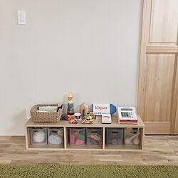おもちゃ収納/シンプルな暮らし/自然素材の家/シンプルにすっきりと暮らす/注文住宅...などのインテリア実例 - 2017-05-09 11:32:23