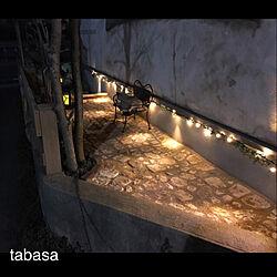 玄関/入り口/イルミネーション/ソーラーライト/庭/石畳風...などのインテリア実例 - 2019-01-24 11:10:53