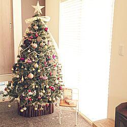 リビング/クリスマスツリー/子どもと暮らす/クリスマスツリー180cm/ダイソー...などのインテリア実例 - 2016-11-20 11:44:29