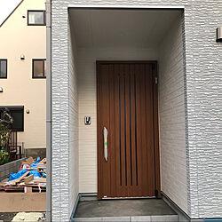 キャラメルチーク/イノベストD50/YKKap/玄関/入り口のインテリア実例 - 2021-02-07 19:47:47
