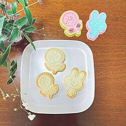セリアのお皿/ブライダルベール/admiさんのクッキー型/クッキー型/クッキー作り...などのインテリア実例 - 2021-04-29 20:37:47