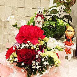 アレンジフラワー/北海道の家/観葉植物のある暮らし/ペトラスクエア/リクシルエコカラット...などのインテリア実例 - 2019-04-07 23:03:51