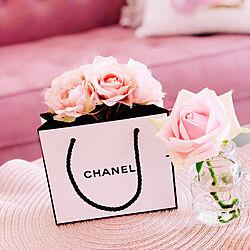 CHANEL/花のある暮らし/一人暮らし/薔薇/大人ピンク...などのインテリア実例 - 2020-04-08 15:10:10