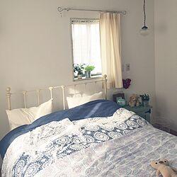 ベッド周り/無印良品/レース編みのベッドカバー/シャビー/白いアイアンのベッド...などのインテリア実例 - 2017-01-18 09:50:56