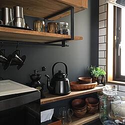 キッチン/コーヒー/ヤカン/ブラウン/カフェ風インテリア...などのインテリア実例 - 2017-12-02 10:16:10