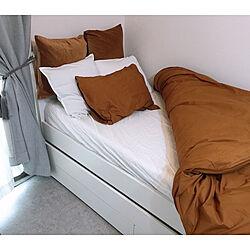 IKEA/一人暮らし/モノトーン/10.5畳/ベッド周りのインテリア実例 - 2020-04-10 08:48:45