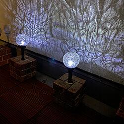 光の模様/マンションインテリア/ベランダ/ソーラーライト/マンションライフ...などのインテリア実例 - 2021-02-10 19:51:24
