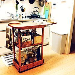 キッチン/アンティーク風/リサ・ラーソンのナプキン/キッチンワゴン/DIY...などのインテリア実例 - 2016-03-09 10:37:02