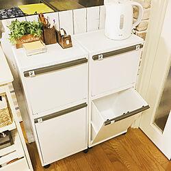 キッチン/ゴミ箱 キッチン/スッキリ/シンプル/ゴミ袋が見えない...などのインテリア実例 - 2018-11-18 09:23:02