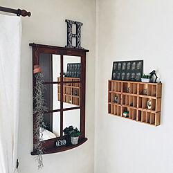棚/鏡/いなざうるす屋さん/アンティーク/DIY...などのインテリア実例 - 2018-04-04 23:04:19