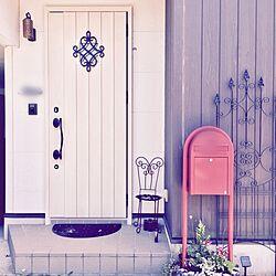 玄関/入り口/チェア/いす/傘立て/ポスト...などのインテリア実例 - 2017-05-16 08:50:23