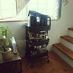 おかし収納/コーヒーのある暮らし/コーヒー/ワゴン/カート...などのインテリア実例 - 2021-02-06 11:37:16