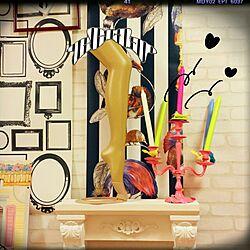 棚/DIY/額縁/輸入壁紙/マネキン...などのインテリア実例 - 2014-07-19 11:19:31
