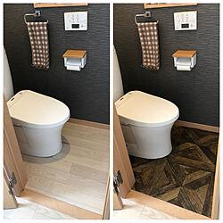 クッションフロアを敷きました。/クッションフロアDIY/クッションフロア/トイレの床/バス/トイレのインテリア実例 - 2021-08-23 12:27:16