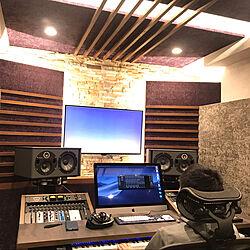 スタジオ/防音室/音楽のある暮らし/高台の家/高台にある家...などのインテリア実例 - 2020-07-09 17:26:57