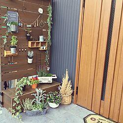 玄関/入り口/サムライ家具/ダイソー/セリア/3COINS...などのインテリア実例 - 2017-04-30 08:13:48