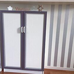 棚/マスキングテープ 壁/カウンター下収納/DIY/塗り替え...などのインテリア実例 - 2016-12-15 20:23:20