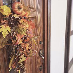 玄関/入り口/イギリス アンティーク/チェスターフィールド/シャビーシック/クラシック...などのインテリア実例 - 2015-10-11 19:35:36