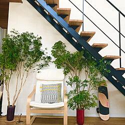 リビング/緑のある生活/椅子/IKEA/階段下...などのインテリア実例 - 2018-04-21 10:34:53