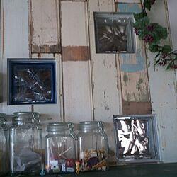 壁/天井/ガラスブロック/輸入壁紙/キャニスター/100円ショップのインテリア実例 - 2013-08-20 17:00:11