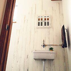 バス/トイレ/杉板/手洗い/ホワイト/配管...などのインテリア実例 - 2014-03-24 16:20:11
