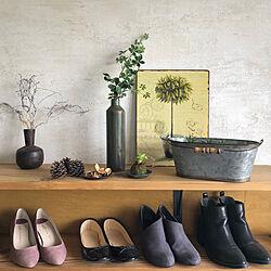 靴収納/壁紙/おうちを好きになる/すっきりと暮らす/いつもボチボチ...などのインテリア実例 - 2021-08-21 11:18:44