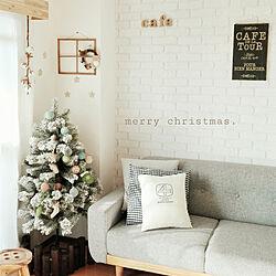 リビング/クリスマス/おうちカフェ/ナチュラルフレンチ/いいね、フォロー本当に感謝です♡...などのインテリア実例 - 2017-12-24 10:51:26