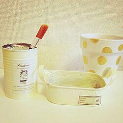 机/リメ缶/ハンドメイド/リメ鉢/柳美菜子さん...などのインテリア実例 - 2014-04-24 13:03:08