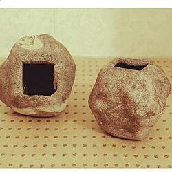 陶器のオブジェ/花びん/アート作品/オブジェ/手づくり...などのインテリア実例 - 2021-06-21 10:40:09