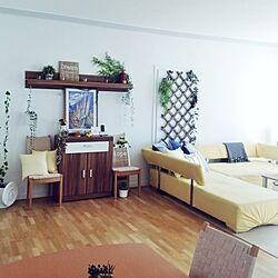 部屋全体/IKEA/ソファ/クッション/黄色...などのインテリア実例 - 2014-04-19 19:48:04