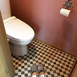 バス/トイレ/romhaman/ピンクの壁/サンゲツ/クッションフロアー貼り...などのインテリア実例 - 2015-05-04 22:02:06