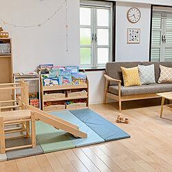 遊び場/子どもスペース/木の家具/イケア/クッション...などのインテリア実例 - 2020-08-13 15:28:33