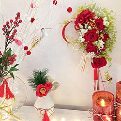 棚/お正月ディスプレイ/花のある暮らし/お正月/冬のハンドメイド...などのインテリア実例 - 2018-12-28 13:59:13