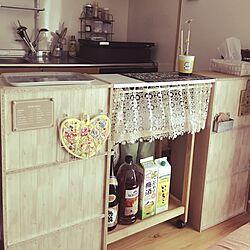 キッチン/2LDK/アイリスオーヤマ/キッチンカウンターDIY/インテリアシート...などのインテリア実例 - 2017-05-24 08:11:30