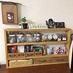 キッチン/2×4材棚/DIY/ナチュラル/ディアウォール DIY...などのインテリア実例 - 2017-09-19 14:24:45