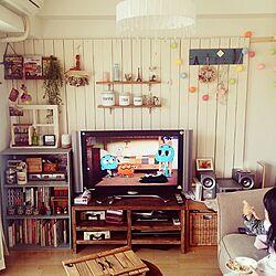 壁/天井/板壁/DIY/分譲マンション/コットンボールランプ...などのインテリア実例 - 2015-03-31 14:34:18