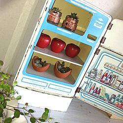 リビング/アンティーク/多肉植物/室内グリーン/おもちゃの冷蔵庫のインテリア実例 - 2013-05-17 11:18:40