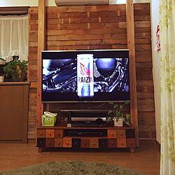 リビング/壁掛けTV/TV/DIYのインテリア実例 - 2015-05-13 15:47:12