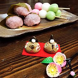 机/和菓子/陶器のお雛様/ちゃぶ台/ひな祭り...などのインテリア実例 - 2018-03-03 18:45:26