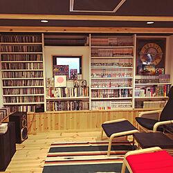 映画部屋/インサイドストッカー/0.5階/プロジェクター用壁紙/趣味部屋...などのインテリア実例 - 2018-12-18 16:32:49