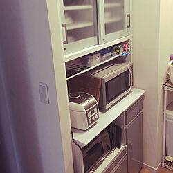 キッチン/食器棚/レンジボード/二人暮らしのインテリア実例 - 2018-06-19 09:22:24