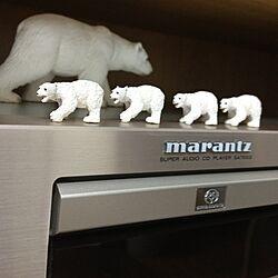 リビング/marantz/同じものを並べたい/動物フィギュアのインテリア実例 - 2013-08-27 18:36:27