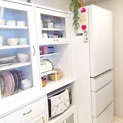 キッチン/ブレッド缶/冷蔵庫/食器棚/momo natural...などのインテリア実例 - 2015-08-23 11:14:03